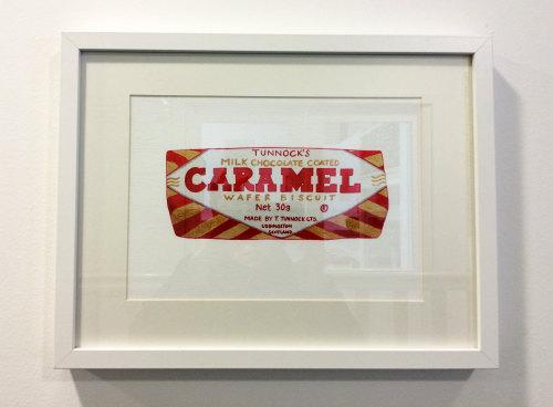 framed tunnock's caramel wafer print