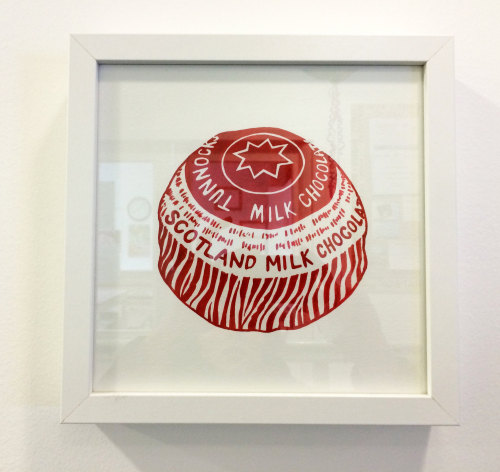 framed tunnock's teacake print