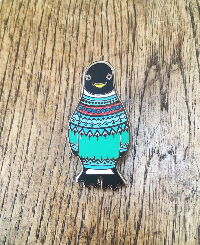 Fair Isla Penguin Enamel Pin