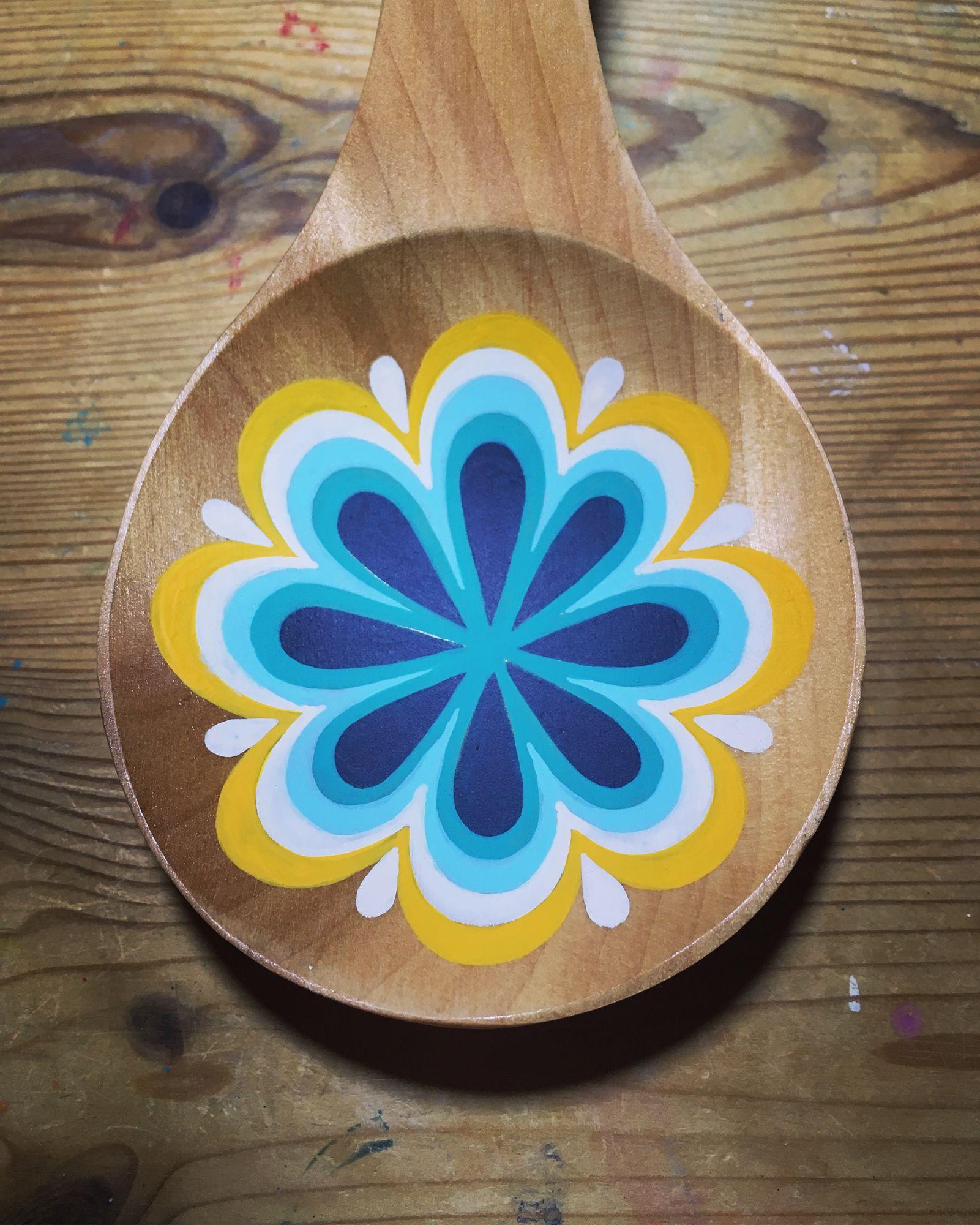 painted spoon