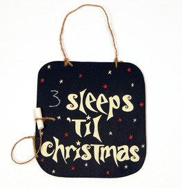 sleeps 'til christmas blackboard
