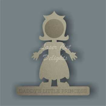 Little Prince or Princess Photo Frame 18mm / Laser Cut Delights