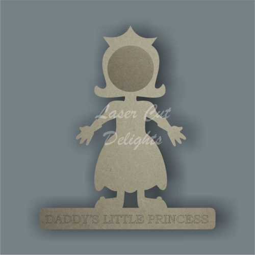 Mummy or Daddy's Little Prince or Princess Photoframe 18mm 20cm