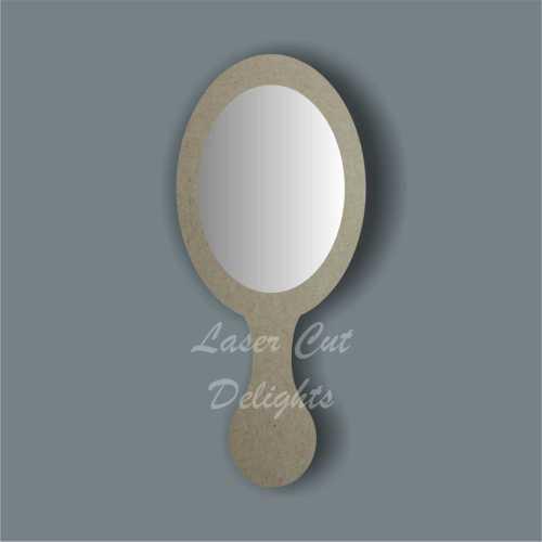 Oval Handheld Mirror 3mm 25cm