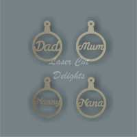 Bauble Italic - Family Members / Laser Cut Delights