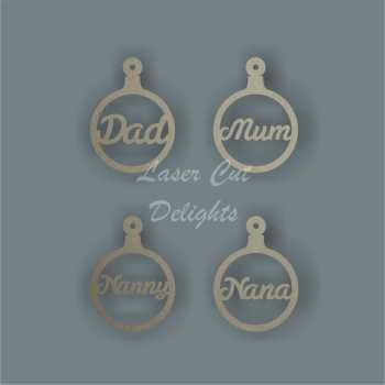 Bauble Italic - Family Members 3mm 12cm