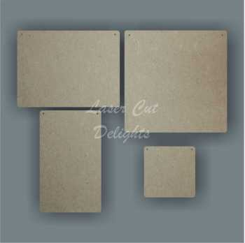 Rectangle plaque (various sizes) 3mm