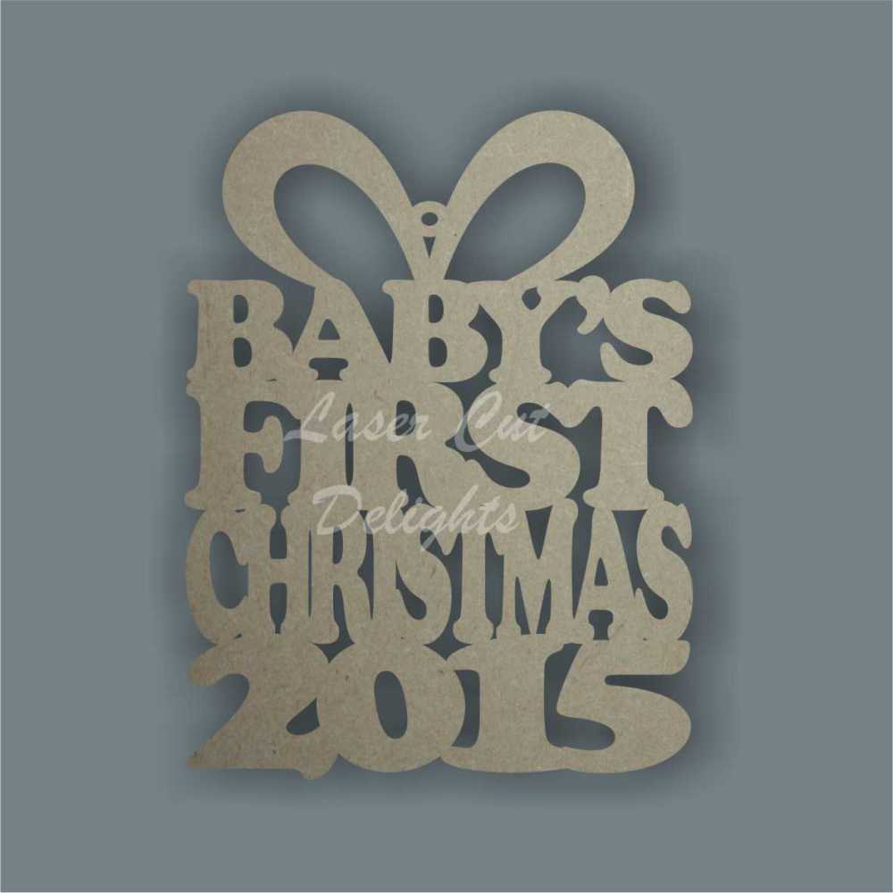 Bauble PRESENT - Baby's First Christmas YEAR / Laser Cut Delights