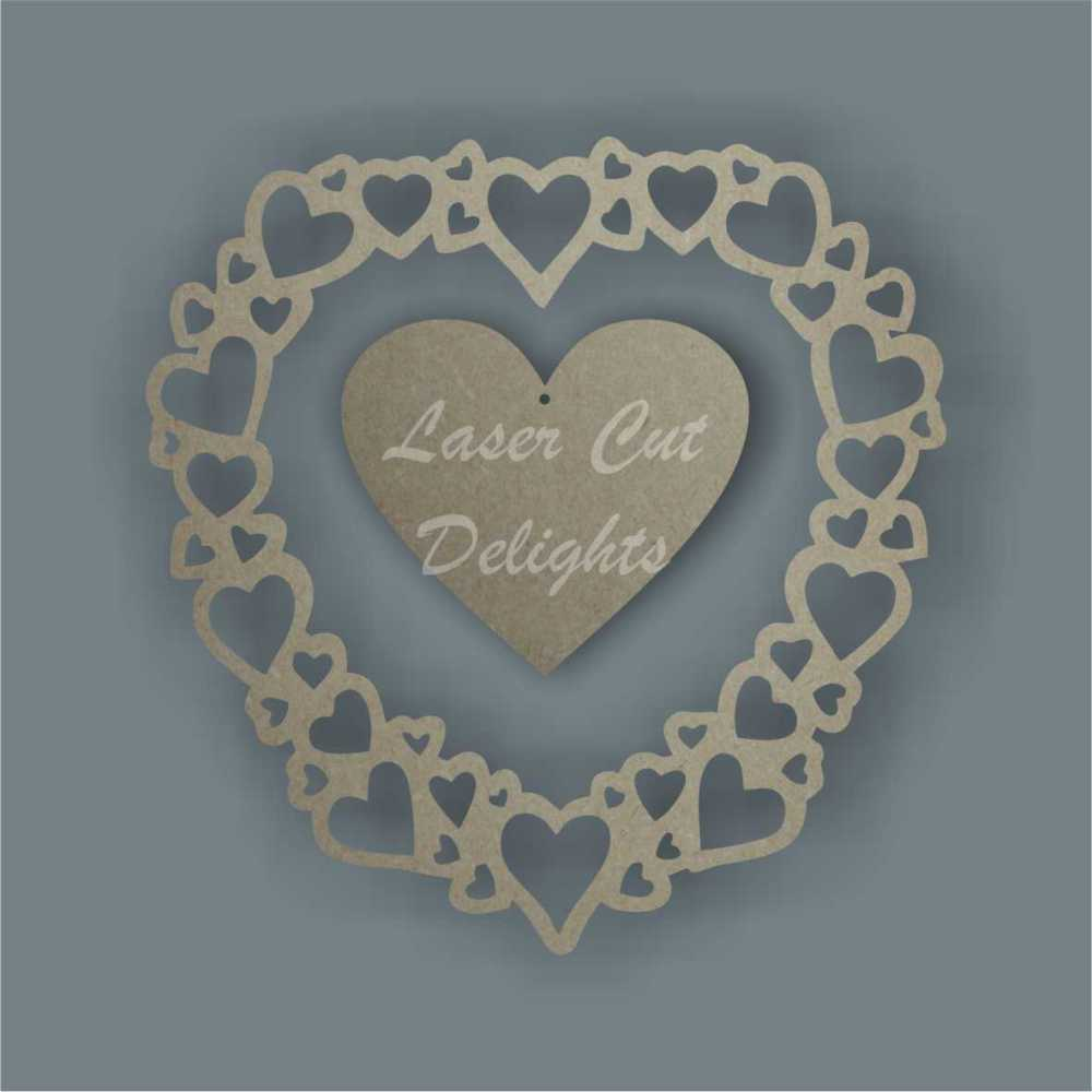 Heart of Hearts 3mm (Original) / Laser Cut Delights