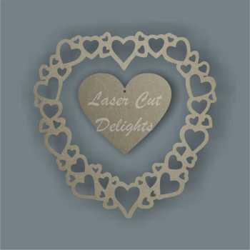 Heart of Hearts 3mm (Original) / Laser Cut Delights