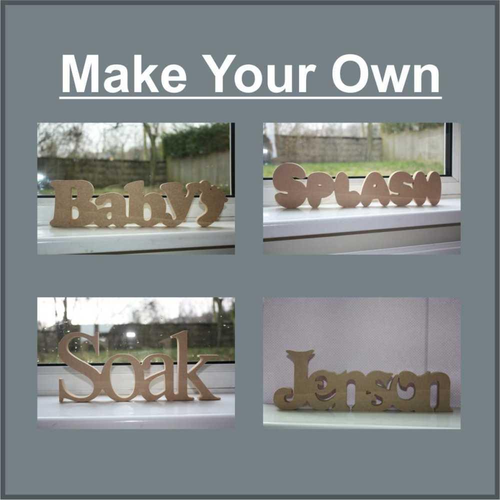 wood mdf words freestanding