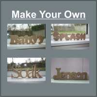 Personalised WORD 18mm / Laser Cut Delights