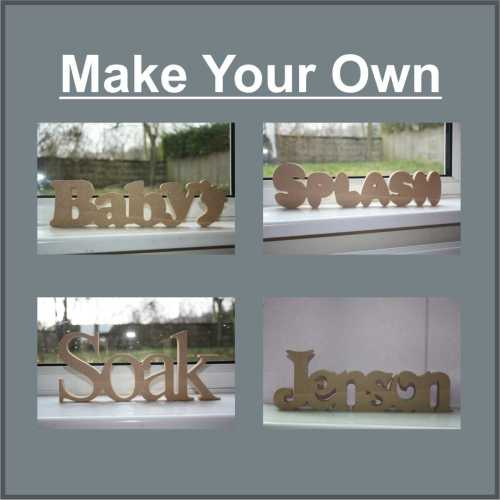 wood mdf words freestanding