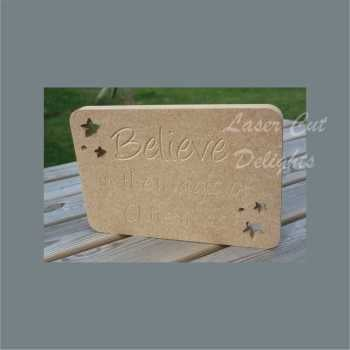 Rectangle Plaque - Believe in the magic of Christmas 18mm 20cm