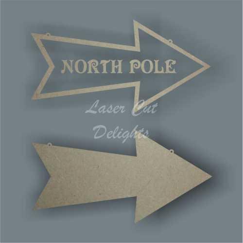 Arrow - North Pole / Santa's Grotto 3mm 30cm