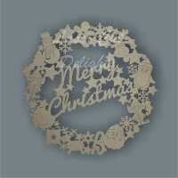 Wreath with Characters (Merry Christmas / Nadolig Llawen) 3mm 29cm