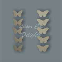 Butterfly Pk of 10 3mm