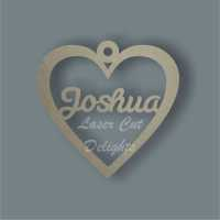 Bauble HEART - Personalised / Laser Cut Delights