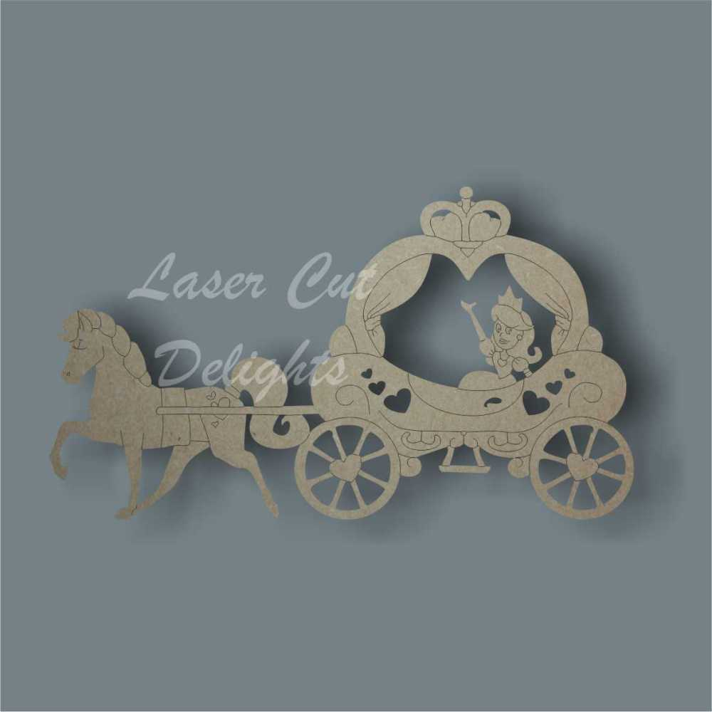 Horse or Unicorn Pulling Carriage 3mm