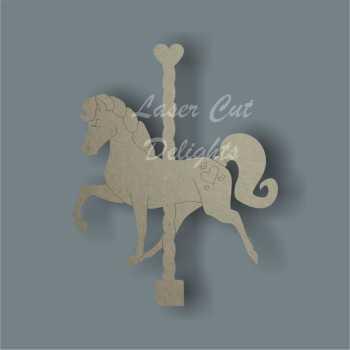 Horse or Unicorn on Carousel (detailed) 3mm