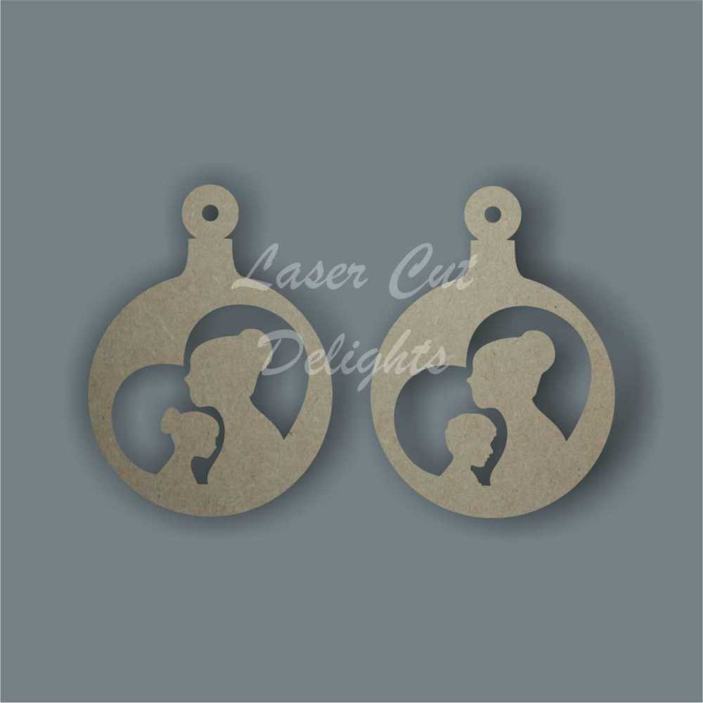 Bauble - Mother with Son or Daughter / Laser Cut Delights