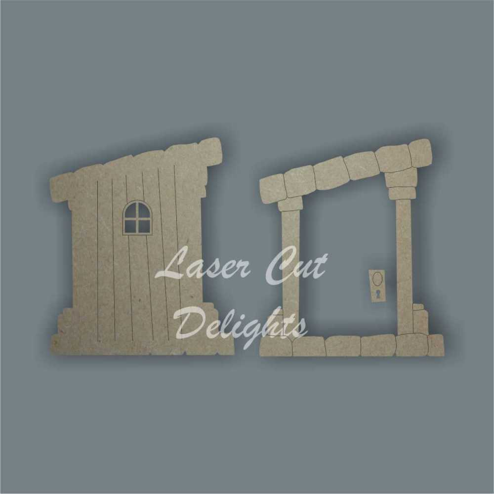3D Fairy Door SLANTED 3mm 15cm