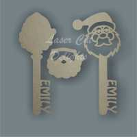 Magic Keys with Santa Face - Can be Personalised 3mm 20cm