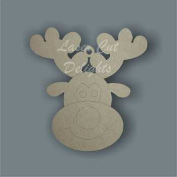 Reindeer Face Head 3mm