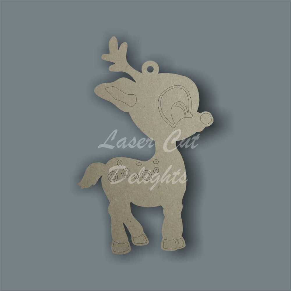 Reindeer Cute Cartoon / Laser Cut Delights
