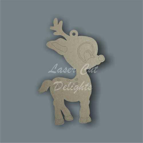 Reindeer Cute Cartoon 3mm 10cm