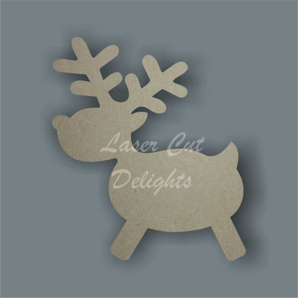 Reindeer Cute Outline / Laser Cut Delights