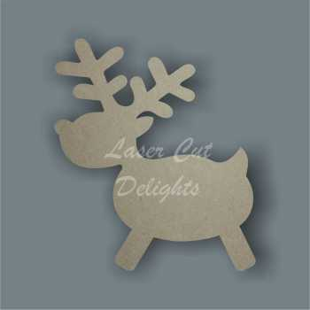 Reindeer Cute Outline 3mm 10cm