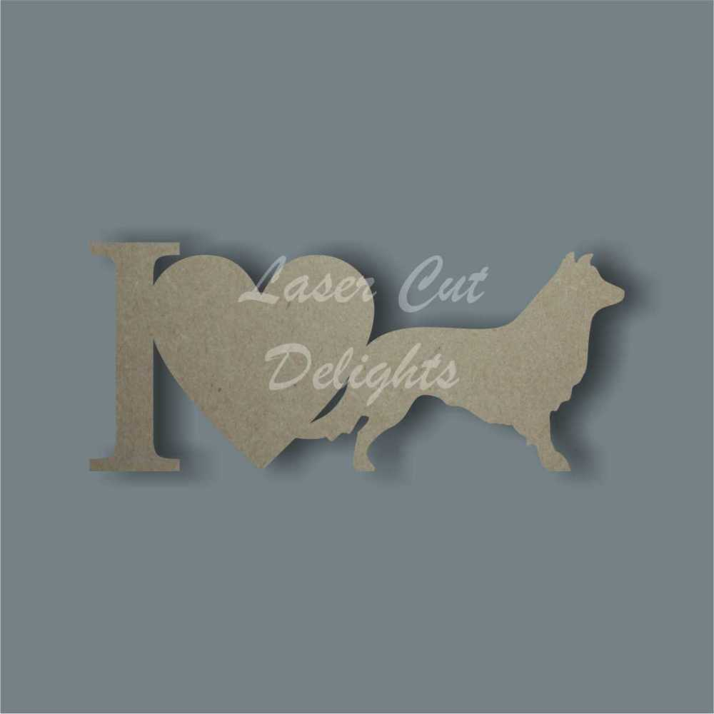 I (heart) Dog Breed 18mm / Laser Cut Delights