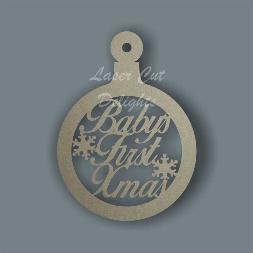 Bauble CIRCLE - Baby's First XMas / Laser Cut Delights
