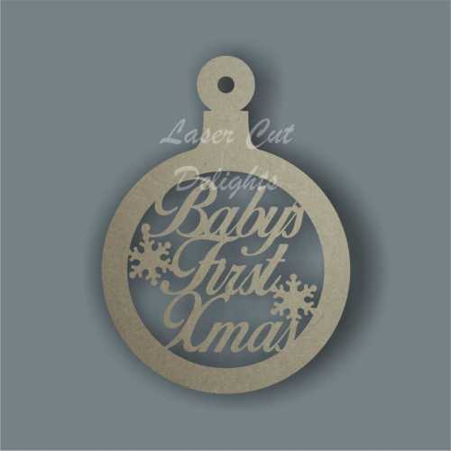 Bauble Circle - Baby's First XMas 12cm 3mm