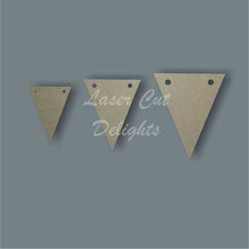 Flag Triangle Bunting (Mini Pk 25) / Laser Cut Delights
