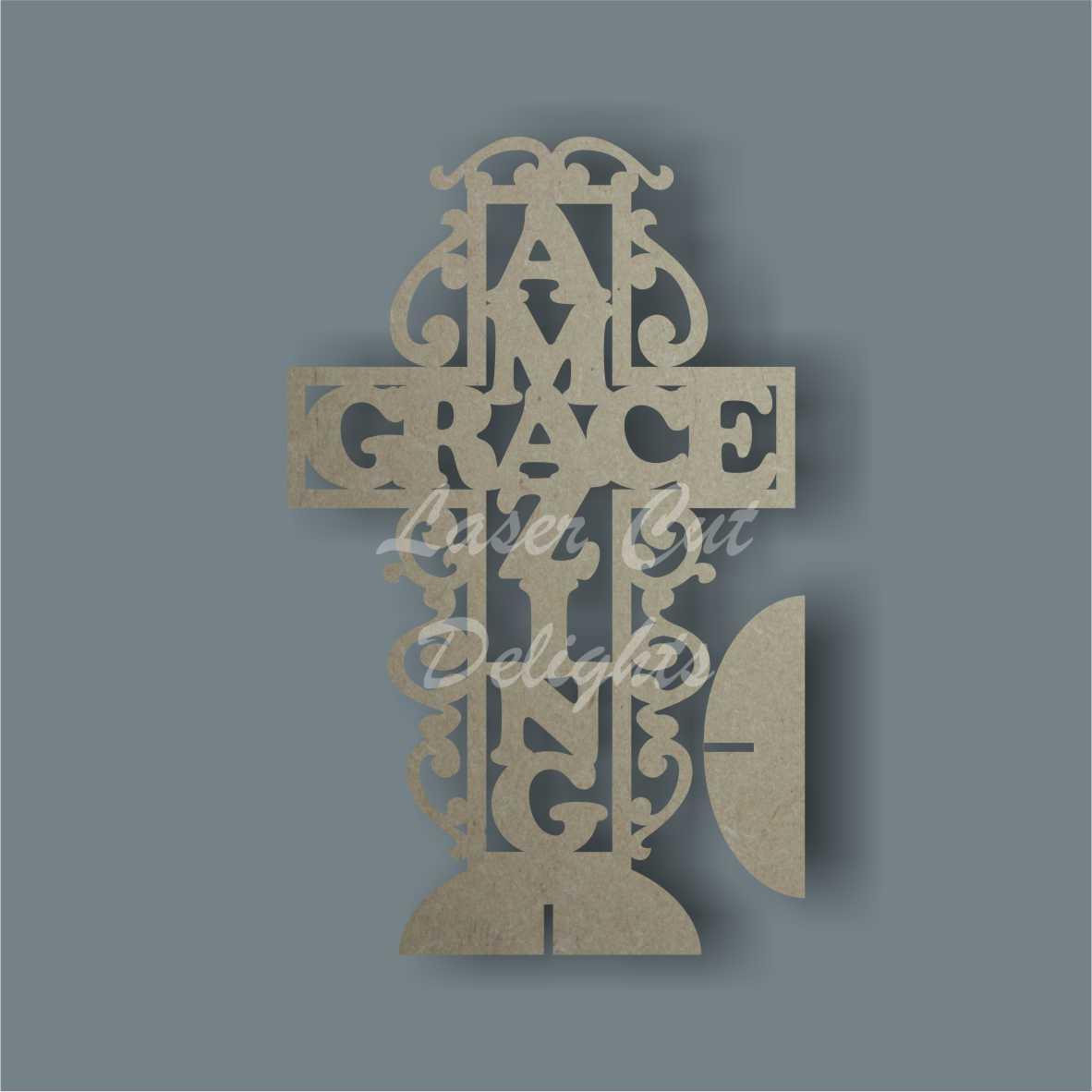 Amazing Grace Freestanding Cross 3mm 30cm