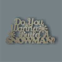 Frozen - Do You Wanna Build A Snowman 3mm 35x18cm