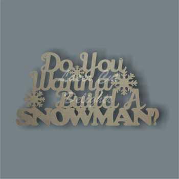 Frozen - Do You Wanna Build A Snowman 3mm 35x18cm
