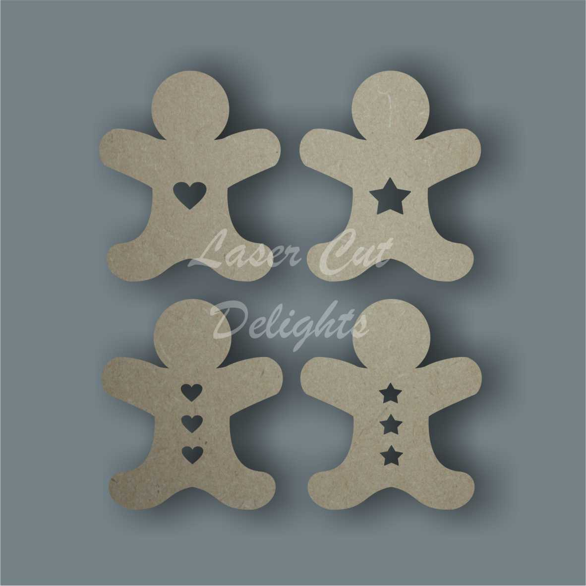 Gingerbread Man Lady / Laser Cut Delights