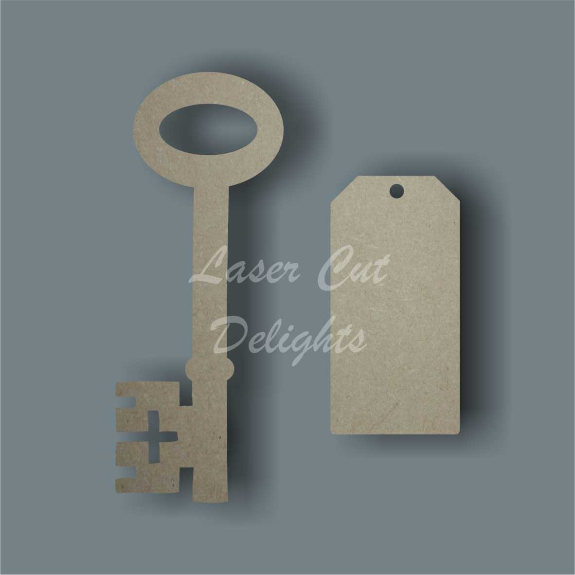 Key and Tag 3mm 10cm