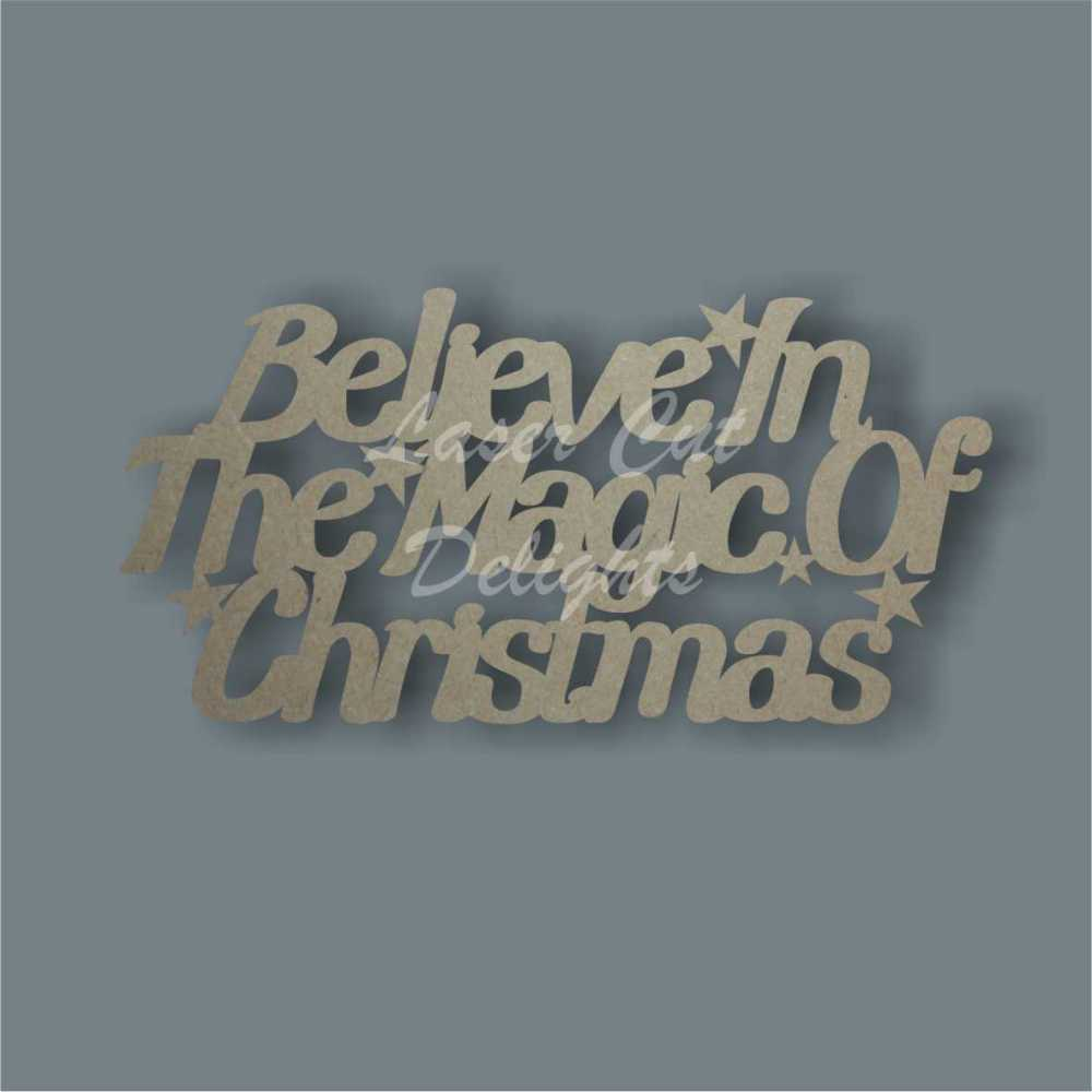 Believe in the Magic of Christmas 3mm 25cm