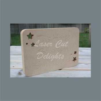 Rectangle Plaque - This House Believes in Santa Claus 18mm 20cm