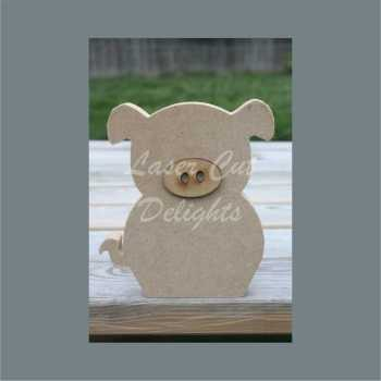 Edge Dangling PIG 18mm / Laser Cut Delights