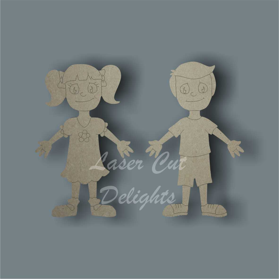 Family Character CHILDREN / Laser Cut Delights