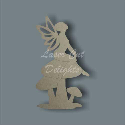 Fairy on Mushroom / Toadstool 3mm 10cm