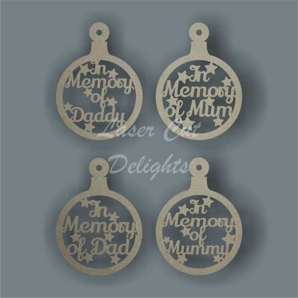 Bauble - In Memory Of Family Member or Name / Laser Cut Delights