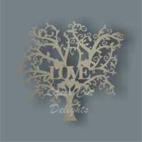 Tree Single Word LOVE / Laser Cut Delights