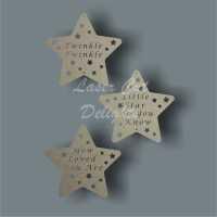 Star (twinkle twinkle...) x3 / Laser Cut Delights