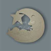 Moon Star Baby (+ choice of wording) / Laser Cut Delights
